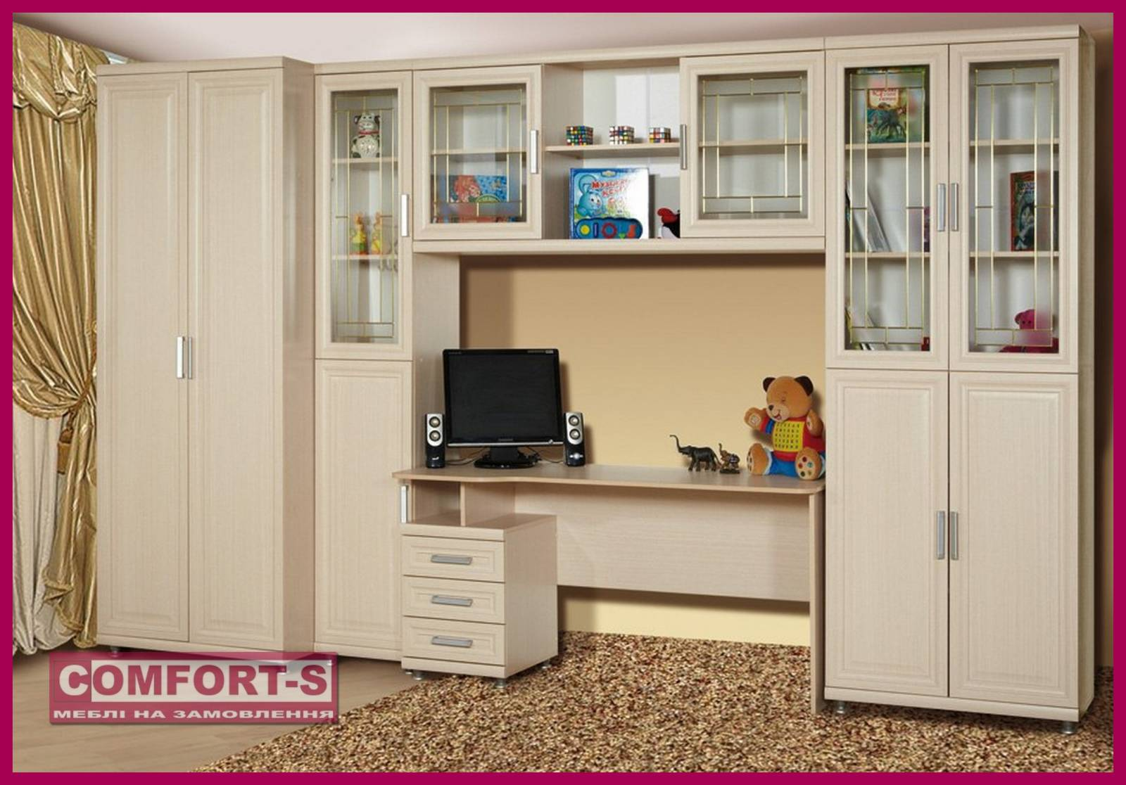 Детская стенка дана-2 на заказ, купить мебель по низким цена.