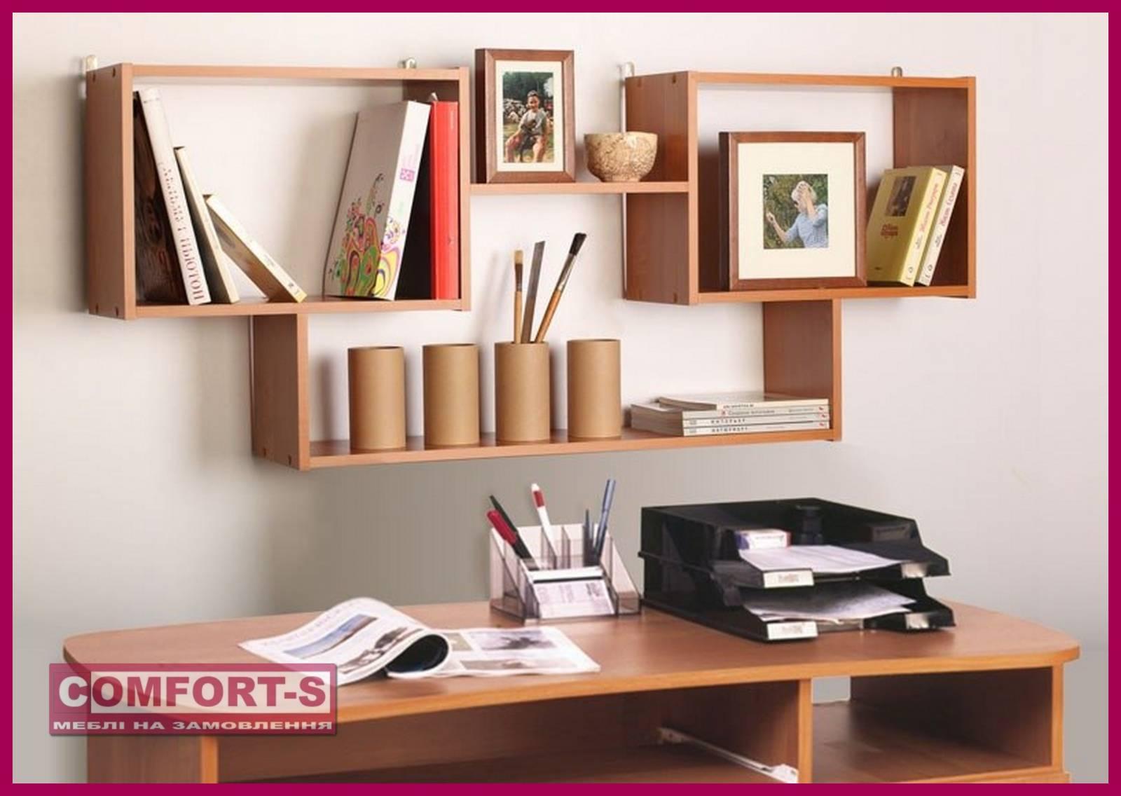 Книжные полки на стену: фото обзор дизайнерских решений, вид.